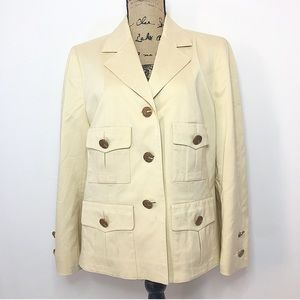 Escada silk button up blazer jacket